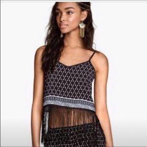 H & M Coachella Fringed Crop Top